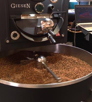 torréfacteur moderne de cafés de spécialité maîtrisée par ordinateur