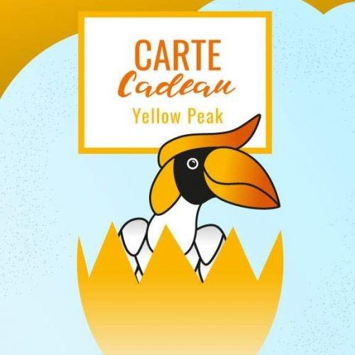 carte cadeau yellow peak d'un montant personnalisé à offrir à vos proches