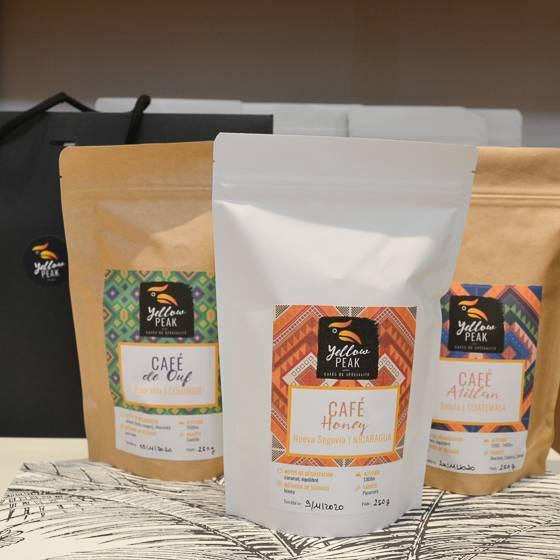 pack trio de cafés amérique tropicale yellow peak cafés de spécialité