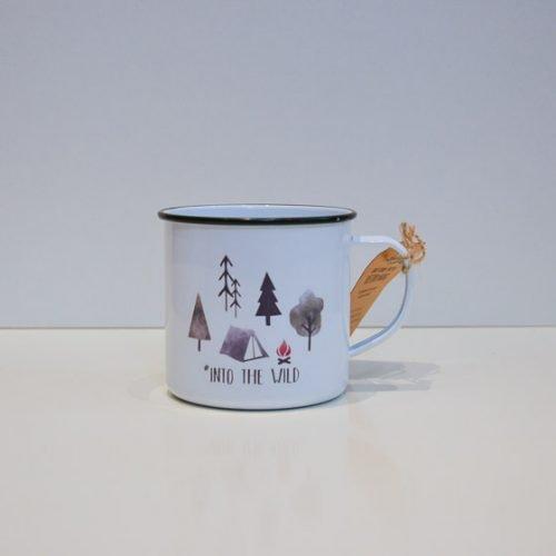 mug tasse original vintage métal motif camping sauvage yellow peak torréfacteur de cafés de spécialité