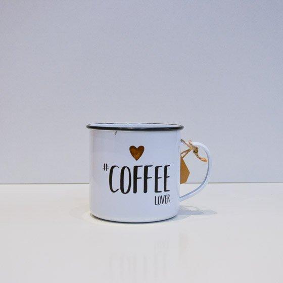 mug tasse original vintage métal illustration coffee lover yellow peak torréfacteur de cafés de spécialité