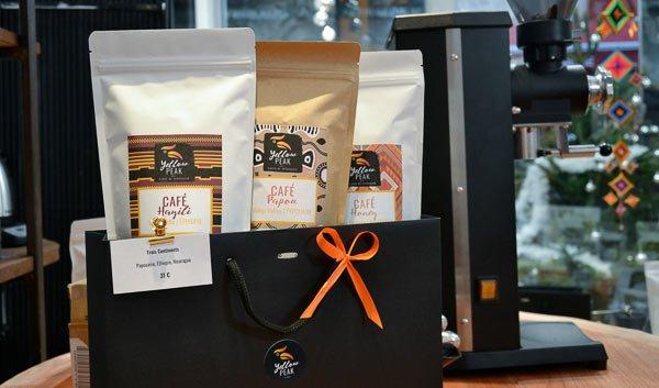 pack cadeau cafés de spécialité avec son emballage élégant